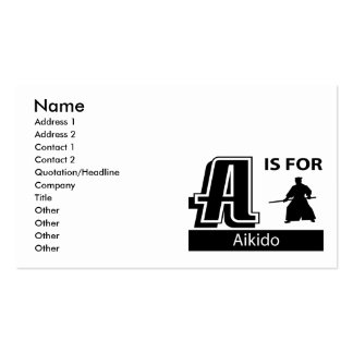 A Is For Aikido Business Card
