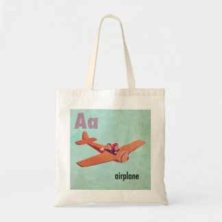A is for Airplane Tote Bags