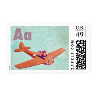A is for Airplane Postage Stamp