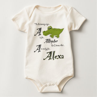 A is for Alexa, Baby Gator Tee