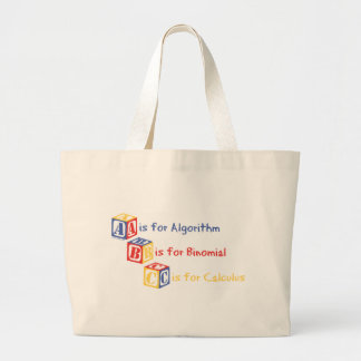 A is for Algorithm Large Tote Bag