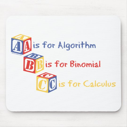 A is for Algorithm Mouse Pad