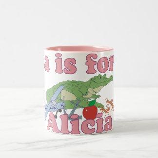 A is for Alicia Two-Tone Coffee Mug