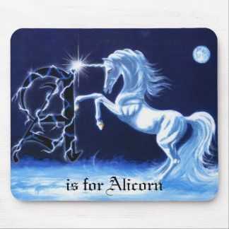 A is for Alicorn Mouse Mat