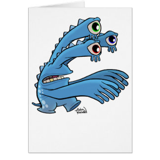 a is for alien greeting card
