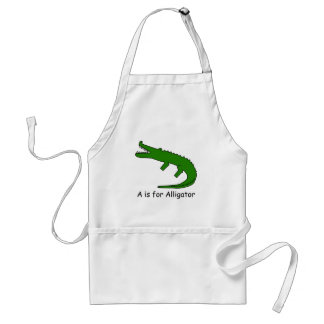A is for Alligator Adult Apron