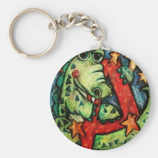 A is for Alligator Basic Round Button Keychain