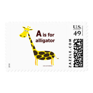 A IS FOR ALLIGATOR T-SHIRTS AND GIFTS STAMPS