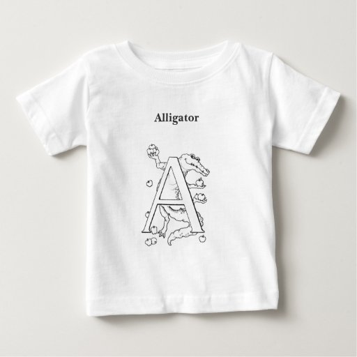 A is for Alligator Tee Shirt