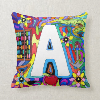A is for Alphabet and Atoms Throw Pillow