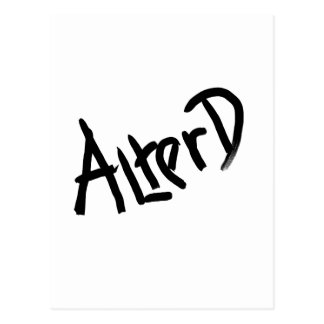 A is for ALTERED: Designs from the I Am A ..Shop. Postcard