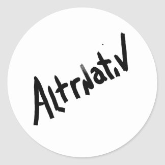 A is for ALTERNATIVE from the I Am A Shop Sticker