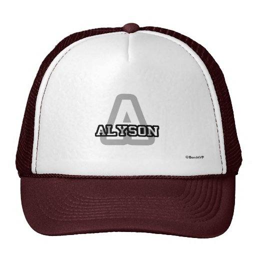 A is for Alyson Mesh Hats
