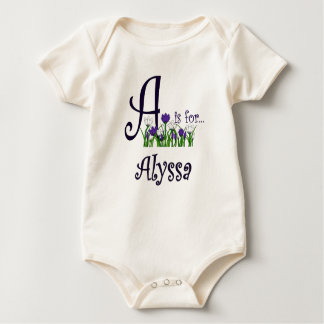A is for Alyssa Cute Spring Flowers T-shirt