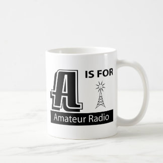 A Is For Amateur Radio Classic White Coffee Mug