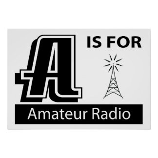 A Is For Amateur Radio Poster