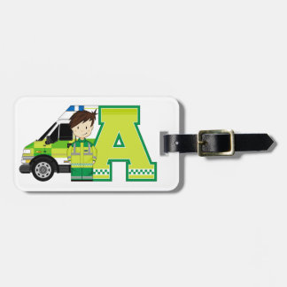 A is for Ambulance Luggage Tag