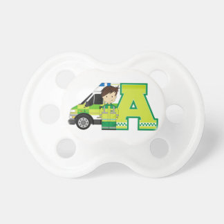 A is for Ambulance Baby Pacifiers