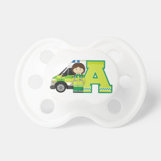A is for Ambulance Baby Pacifier