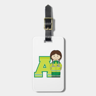 A is for Ambulance Woman Bag Tag