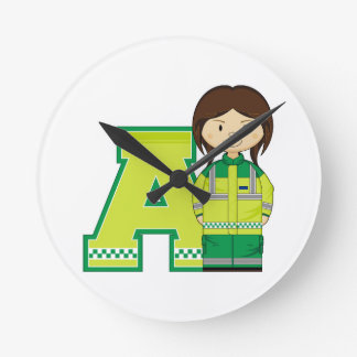 A is for Ambulance Woman Wallclock