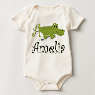 A is for Amelia, Baby Gator Tee
