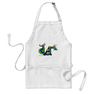 A is for Amphisbaena Adult Apron