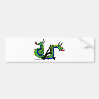 A is for Amphisbaena Car Bumper Sticker