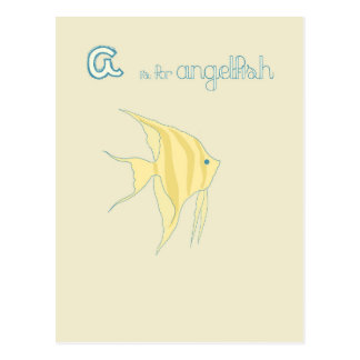 A is for Angelfish Postcard