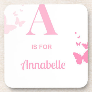 A is for Annabelle Beverage Coaster