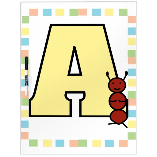 A is for Ant Dry Erase Board