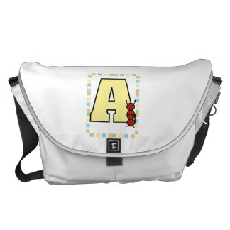 A is for Ant Pastels Large Courier Bag