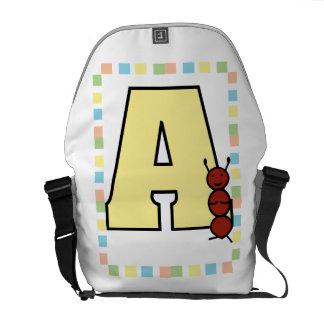 A is for Ant Rickshaw Messenger Bag