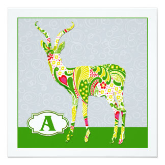 A is for Antelope Card