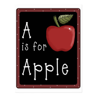 A_is_for_apple (2)Greeting Card Postcard