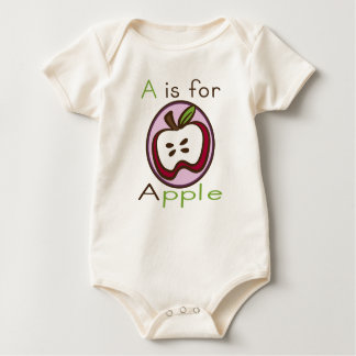 A is for Apple Organic Baby Rompers