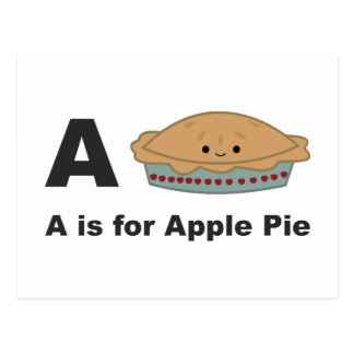 A is for Apple Pie Postcard