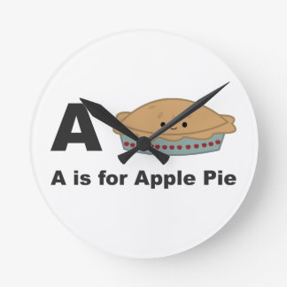 A is for Apple Pie Round Clock