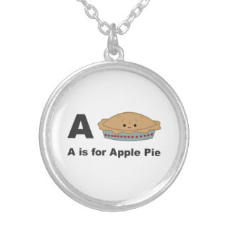 A is for Apple Pie Silver Plated Necklace
