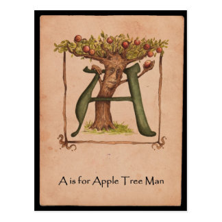 A is for Apple-Tree Man Postcard
