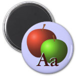 A is for Apples Refrigerator Magnet
