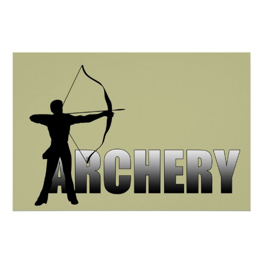 A is for Archer -   Archery Poster