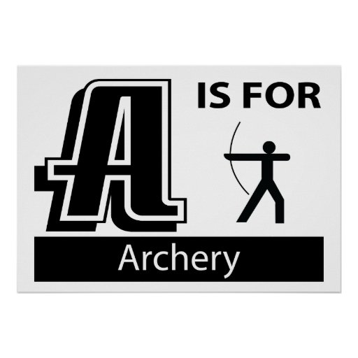 A Is For Archery Poster