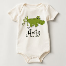 A is for Aria, Baby Gator Tee