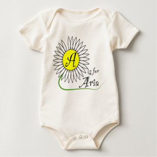 A is for Aria Daisy Baby Bodysuits