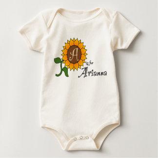 A is for Arianna Sunflower T Shirt