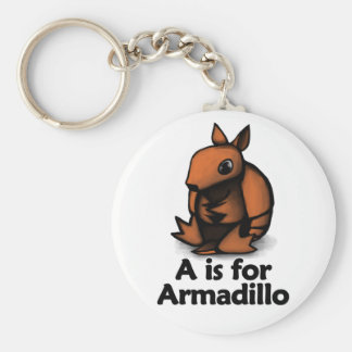 A is for Armadillo Keychain