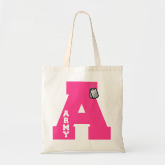 A is for Army Tote Bag