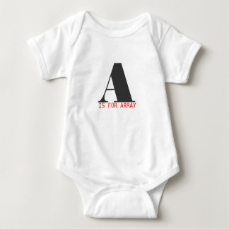 A is for array baby bodysuit