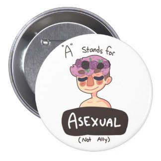 A is for Asexual Button Pins